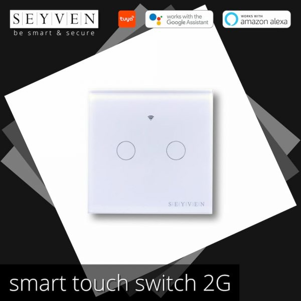 Smart Touch Switch 2 Gang SEYVEN