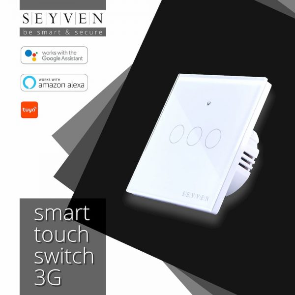 Smart Touch Switch 3 Gang SEYVEN